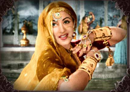 Madhubala in movie Mughal-e-Azam